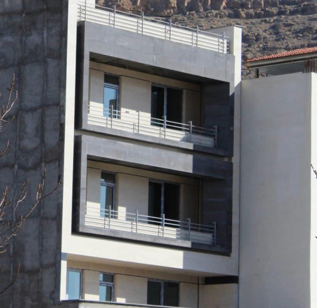 سنگ بازالت در نمای ساختمان