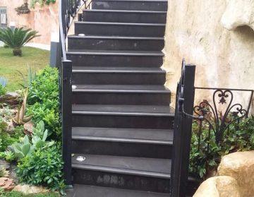 نمونه اجرا شده سنگ بازالت ماکو در پله