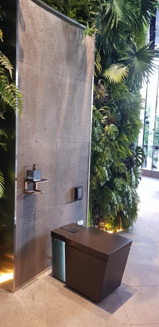 چند نمونه از اجرای سنگ بازالت در سرویس بهداشتی