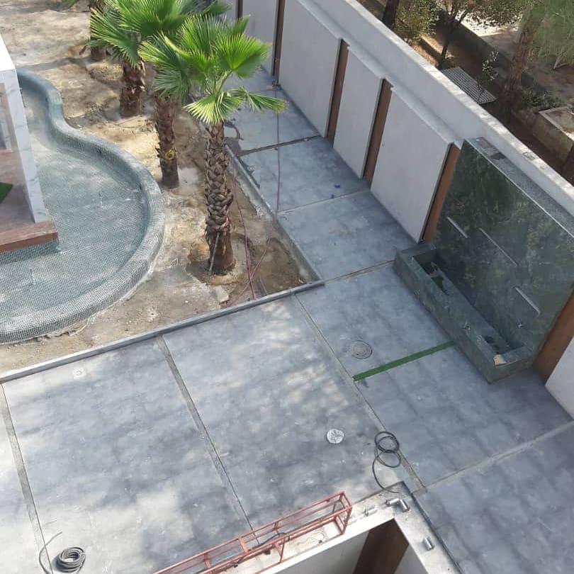 نمونه های کار شده سنگ بازالت در حیاط
